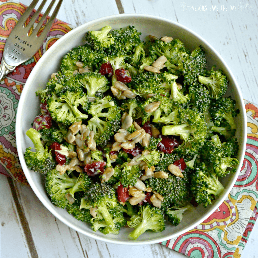 This Lightened Up Broccoli Salad Is Easy To Make With Only A Few Ingredients You