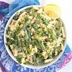 Creamy Asparagus Pasta (vegan and oil-free)