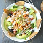 Buffalo Chickpea Salad with Ranch