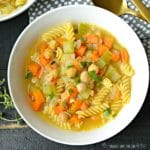 Chickpea Noodle Soup (Vegan) from Homestyle Vegan by Amber St Peter