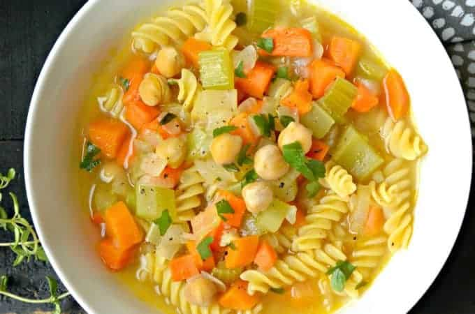 Chickpea Noodle Soup from Homestyle Vegan