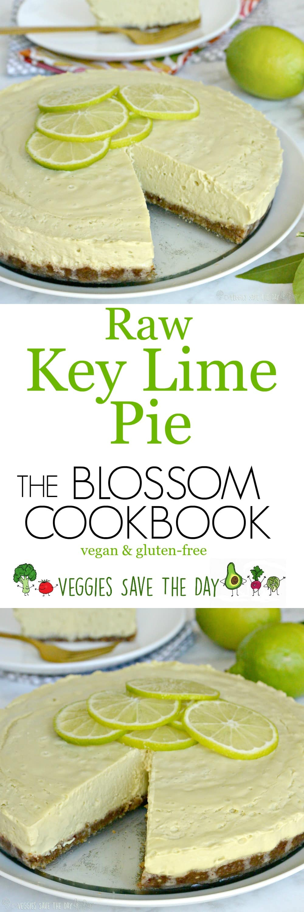 Raw Key Lime Pie from the Blossom Cookbook is vegan, gluten-free, and deliciously creamy!