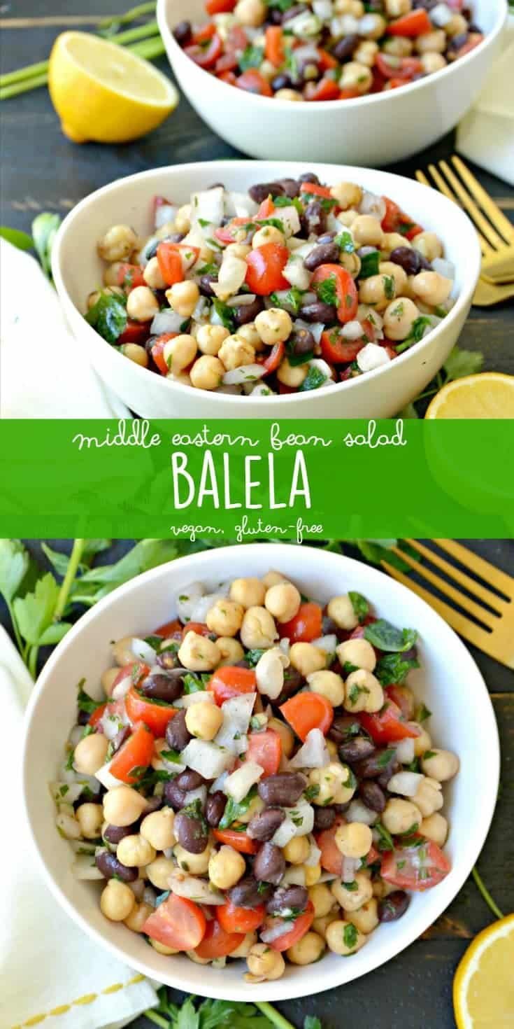 Middle Eastern Bean Salad (Balela) is healthy, delicious, and naturally vegan and gluten-free!