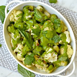 Warm Cauliflower Salad with Brussels Sprouts