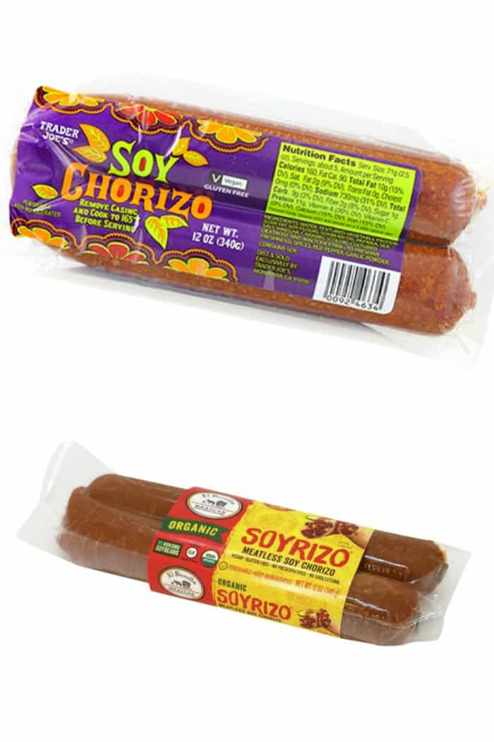 Soyrizo (soy chorizo) packages