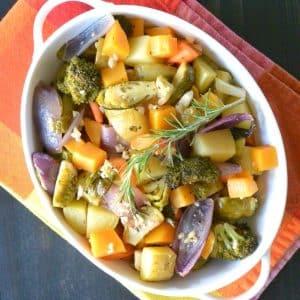 White Wine Roasted Vegetables