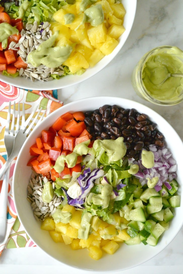 Black Bean Pineapple Salad - Veggies Save The Day