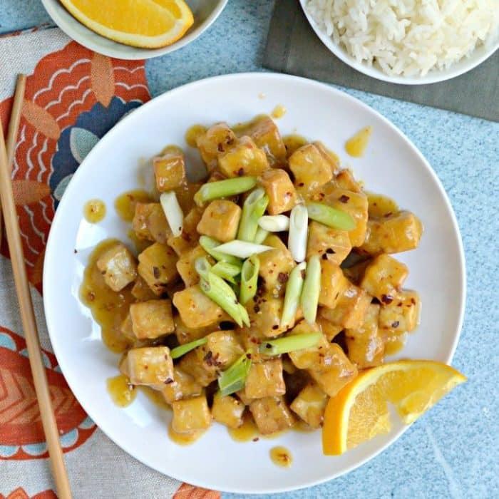 Air Fryer Orange Tofu (Oil-Free)