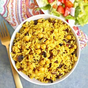 Basmati Rice Pilaf with Chickpeas and Dried Fruit ...