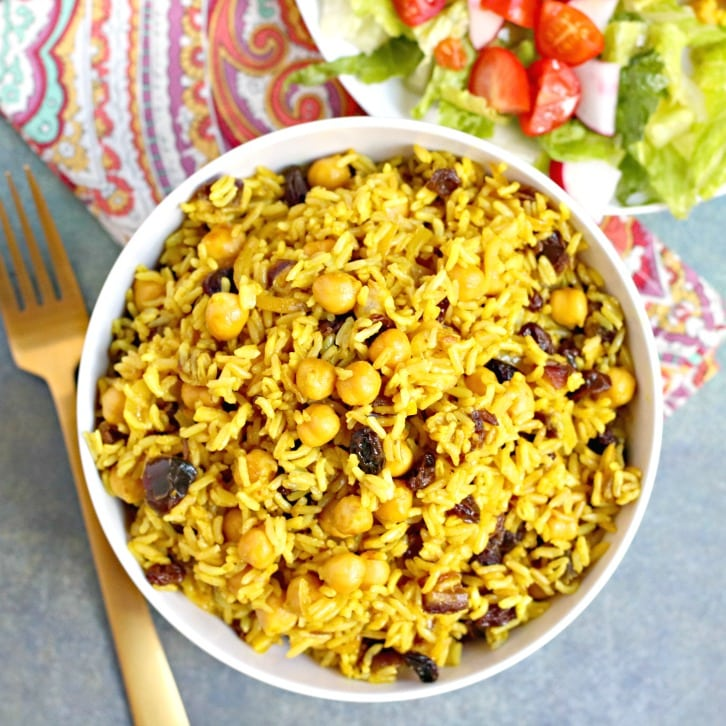 Basmati Rice Pilaf With Chickpeas And Dried Fruit Veggies Save The Day