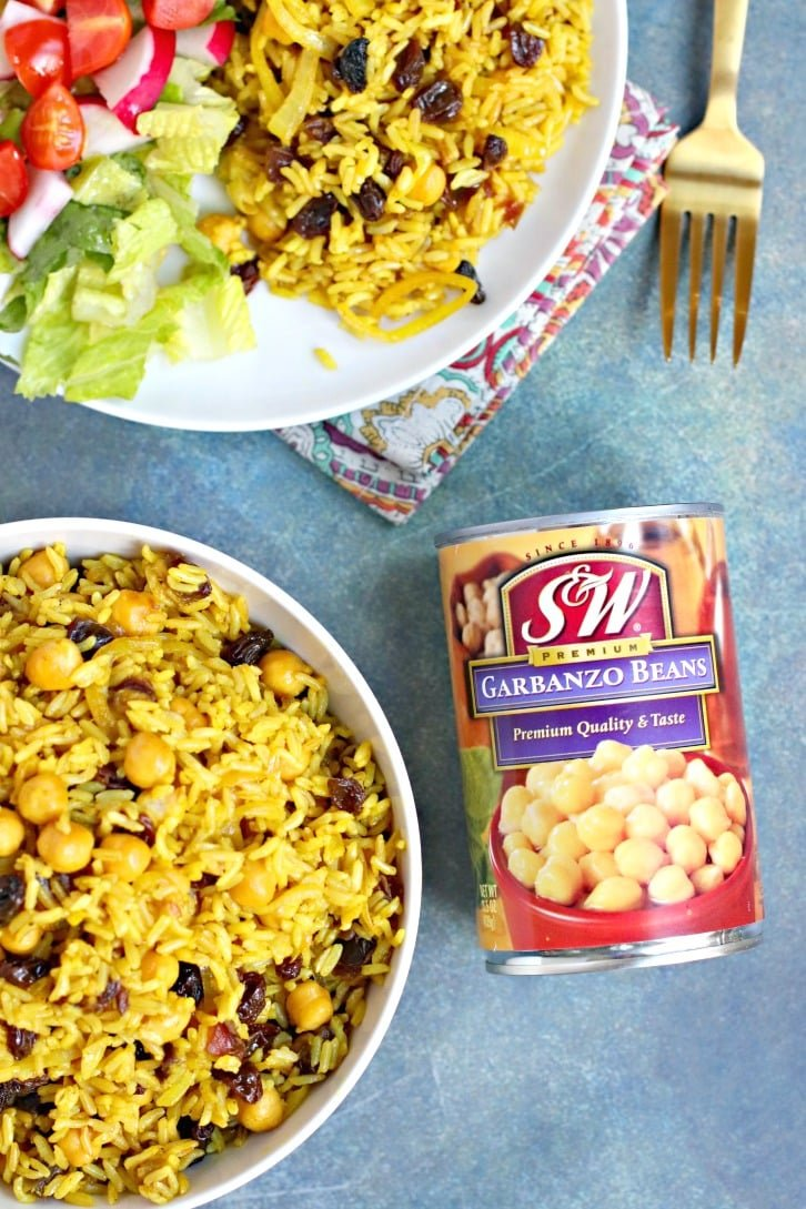 Basmati Rice Pilaf made with S&W Garbanzo Beans