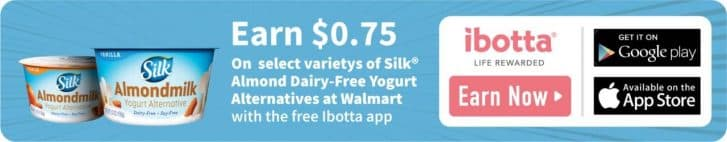 Ibotta Silk Rebate (Vegan Banana Yogurt Pancakes)