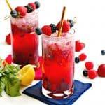 Easy Berry Vodka Cocktails (sugar-free)