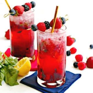 Easy Berry Vodka Cocktails (sugar-free)