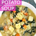 Red Lentil Potato Soup (Vegan)