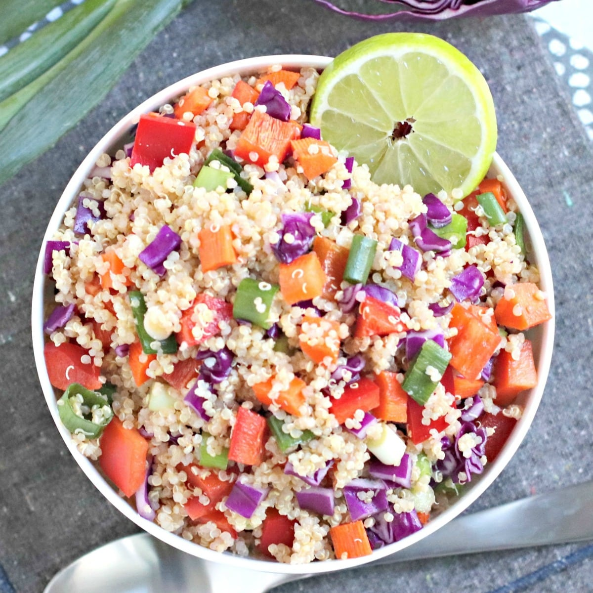 Easy Vegan Quinoa Salad Veggies Save The Day
