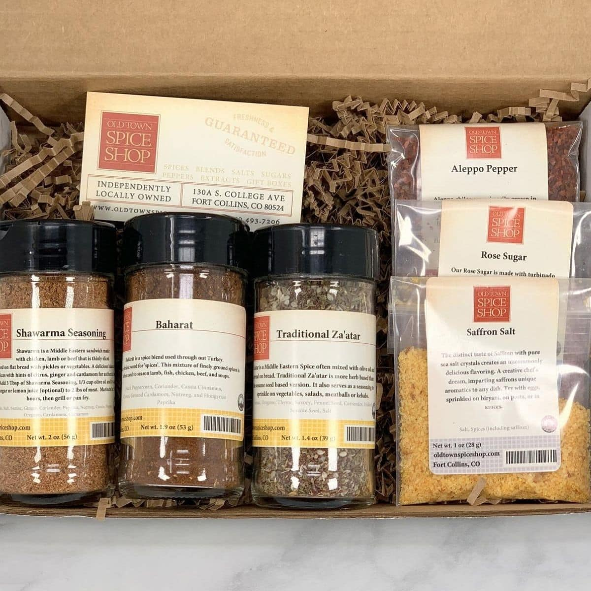 Middle Eastern spices gift box