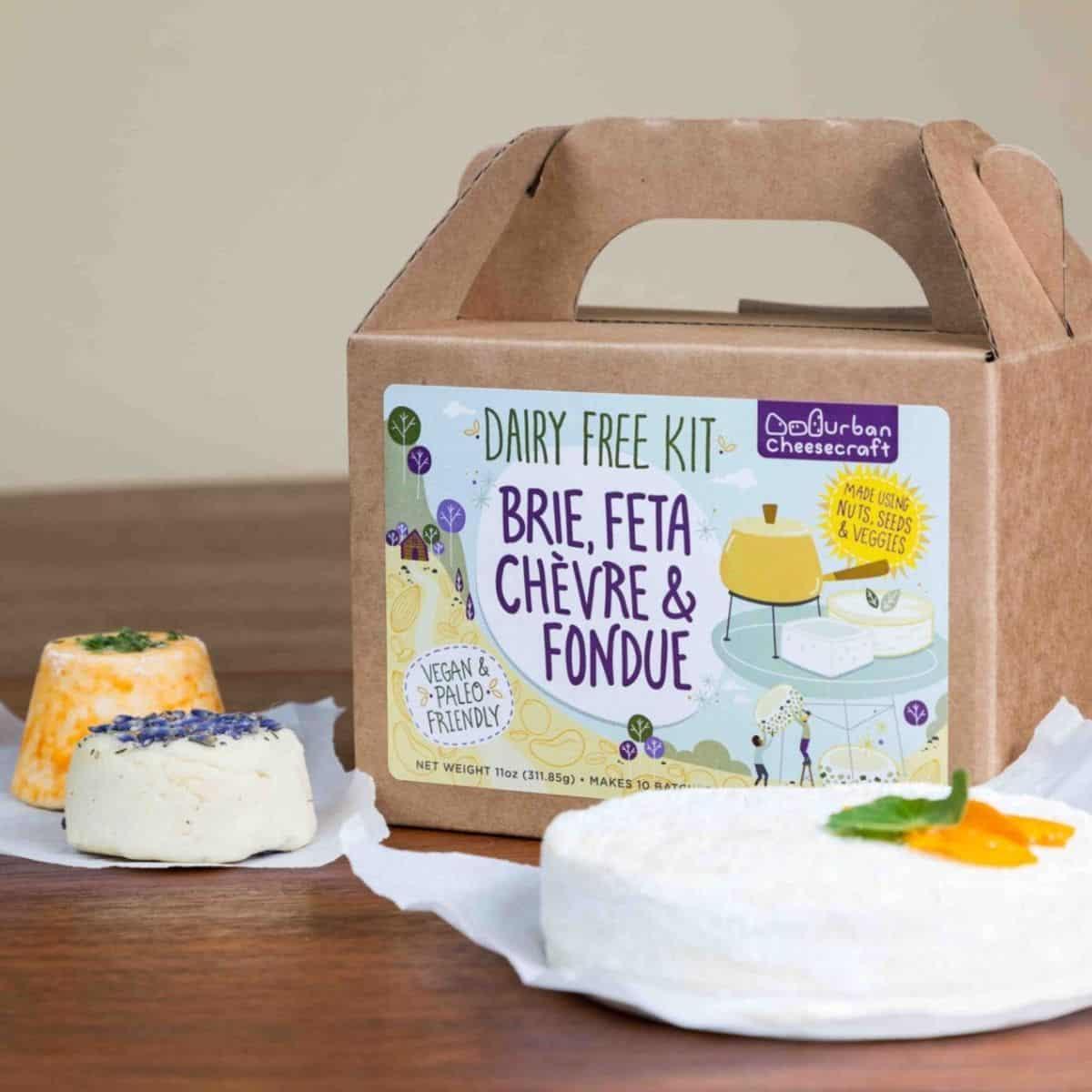 Dairy Free Kit to make Brie, Feta, Chevre, and Fondue