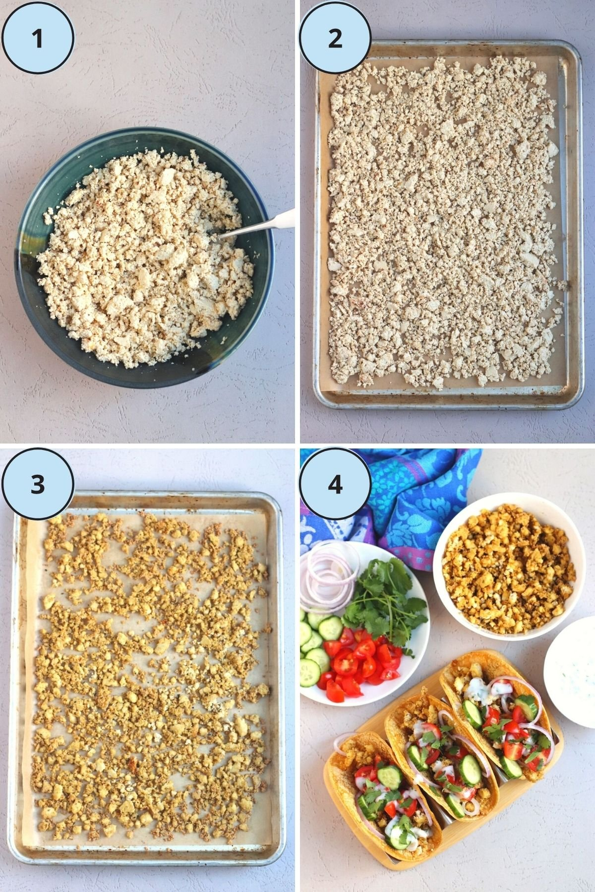 Collage of images of steps for making this recipe