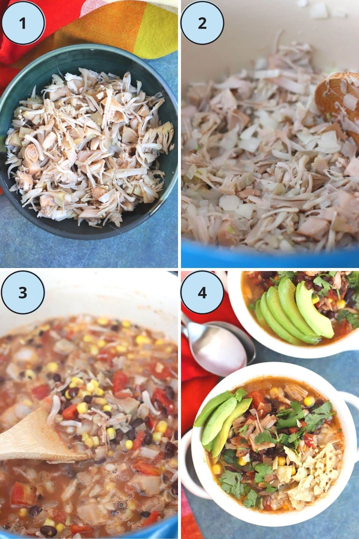 Collage of images showing how to prepare this recipe