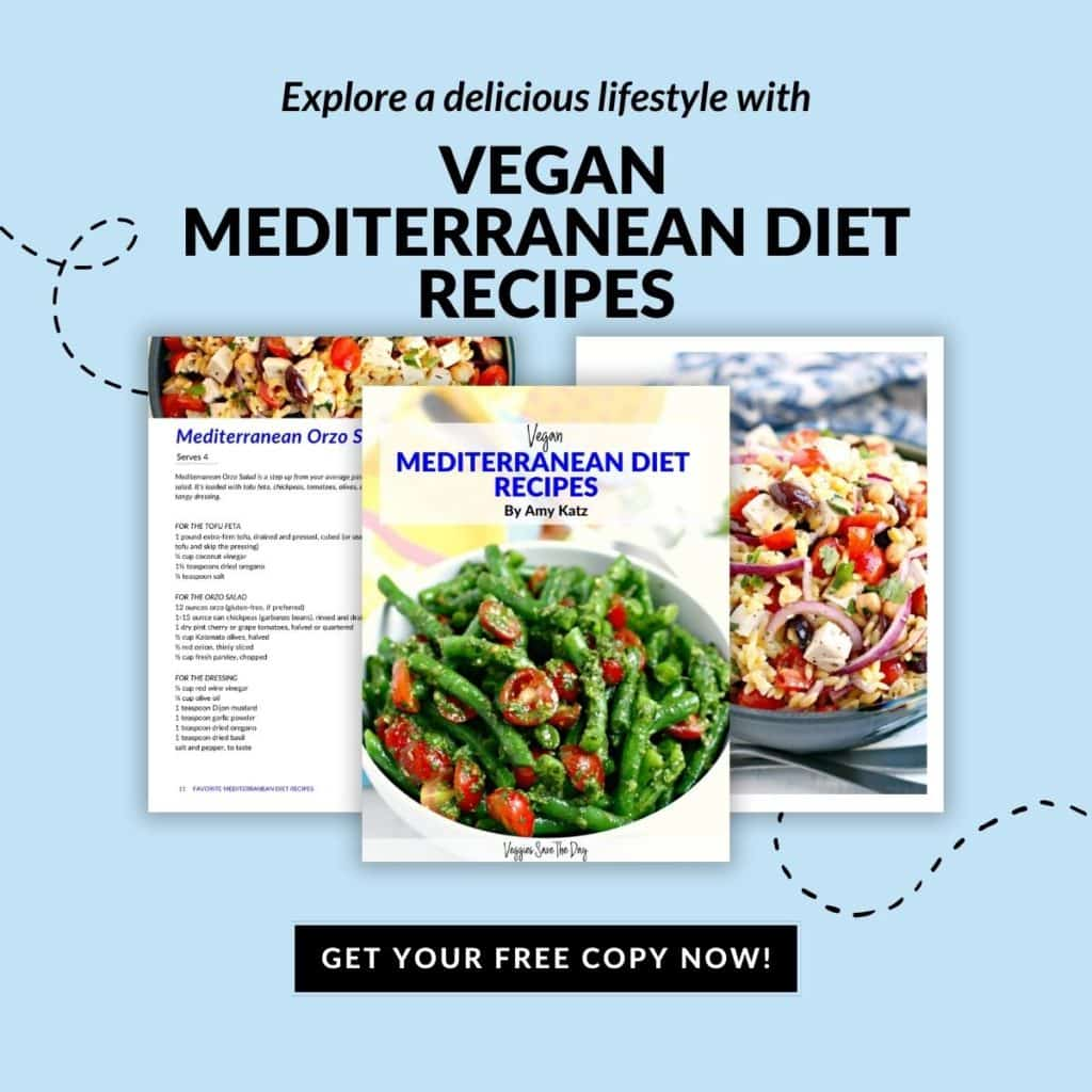 Pages from the free Vegan Mediterranean Diet Recipes eBook