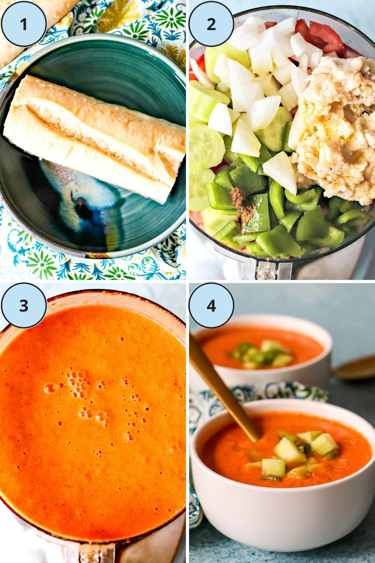 Collage of 4 images showing the steps for making this recipe
