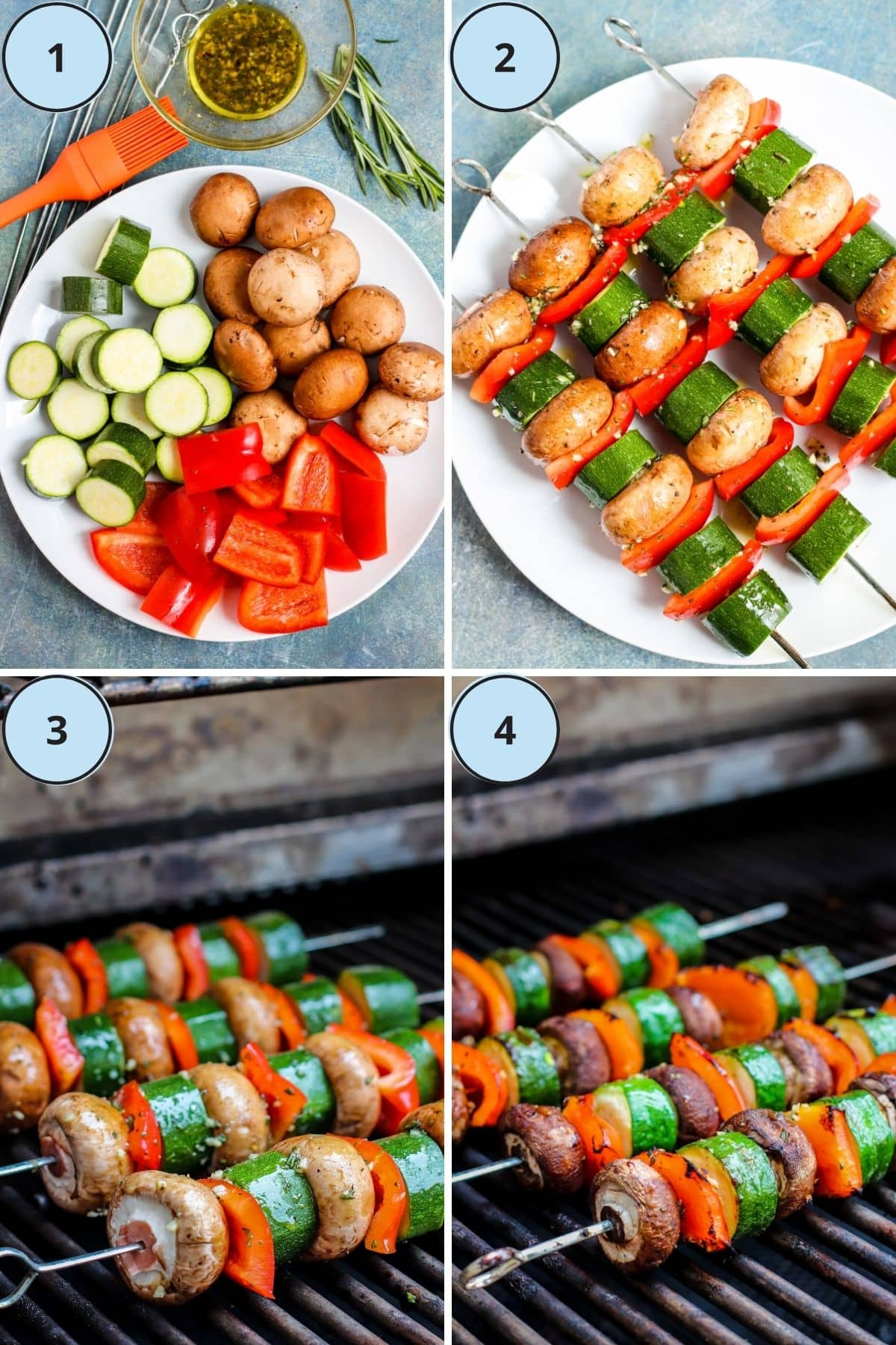 Collage of 4 images showing how to make this recipe