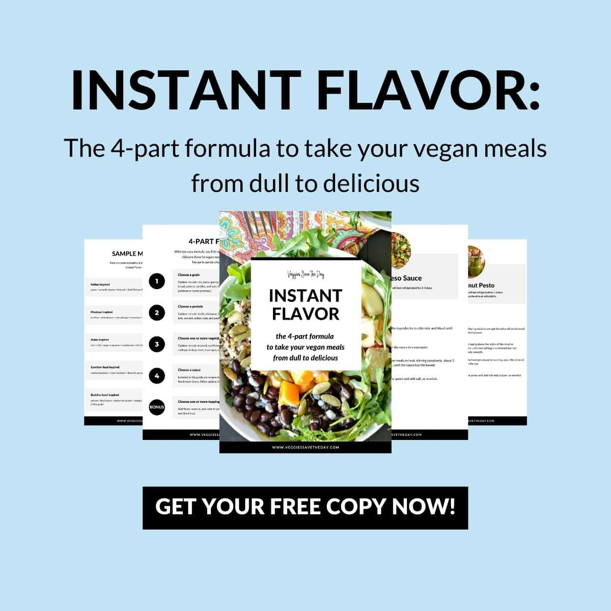 Pages from the free Instant Flavor guide