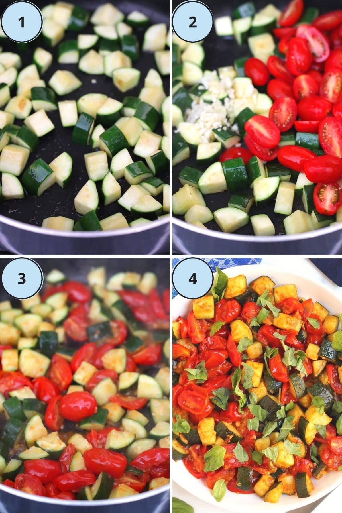 Collage of 4 images showing how to prepare this recipe
