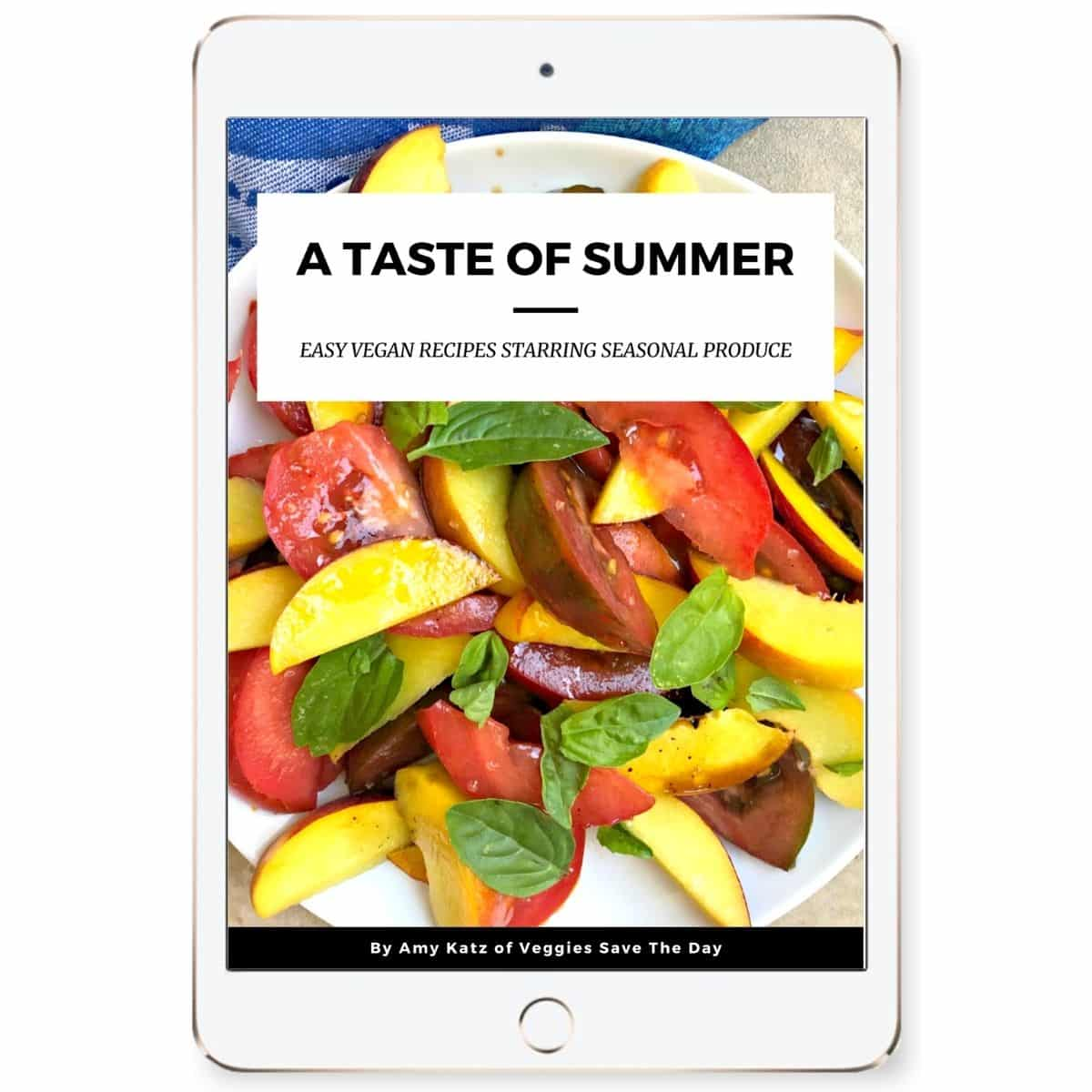 Cover of A Taste Of Summer shown on an iPad