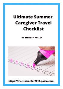 Ultimate Summer Caregiver Travel Checklist