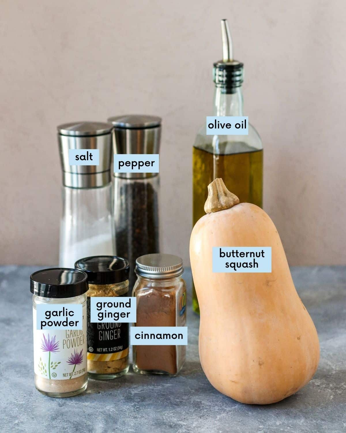 Labeled ingredients you'll need to make this recipe